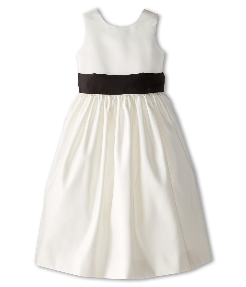 Us Angels - Sleeveless Satin Dress (Little Kids) (Black) Girl's Dress