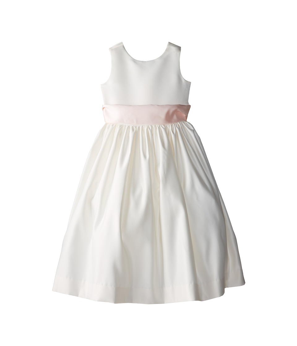 Us Angels - Sleeveless Satin Dress (Little Kids) (Blush Pink 1) Girl's Dress