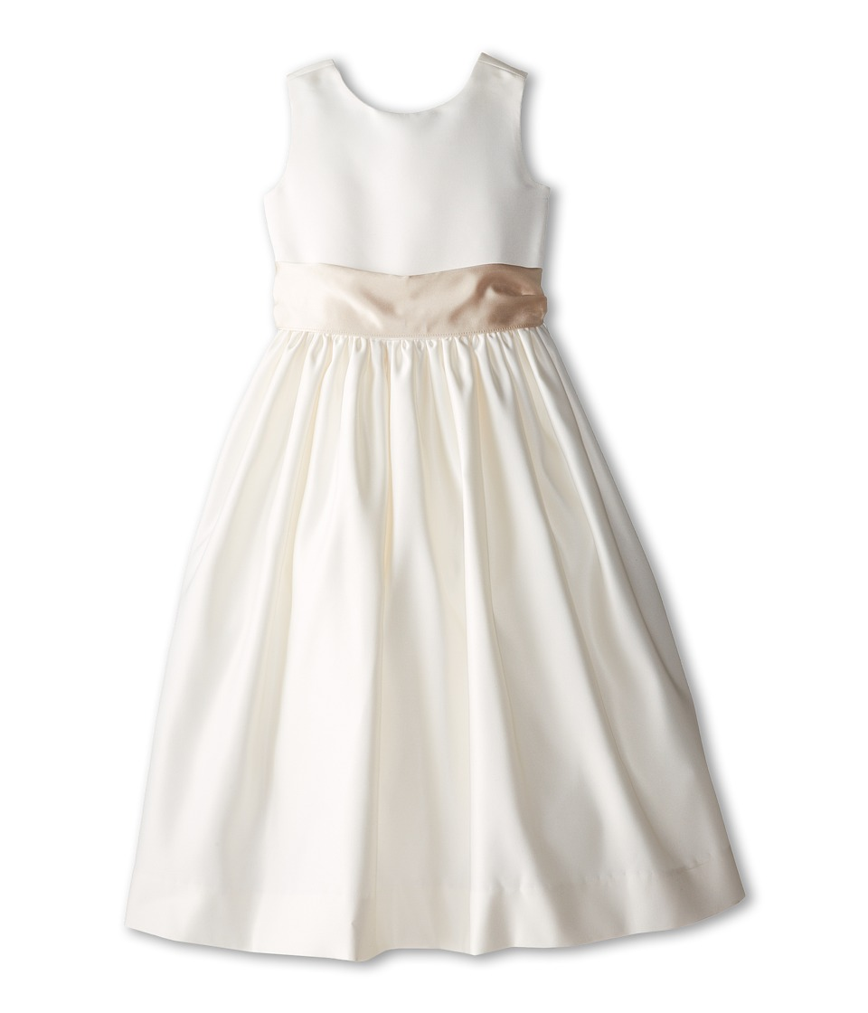 Us Angels - Sleeveless Satin Dress (Little Kids) (Champagne) Girl's Dress