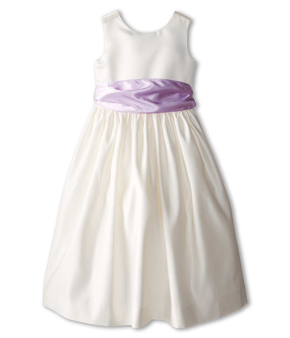 Us Angels - Sleeveless Satin Dress (Little Kids) (Lilac) Girl's Dress