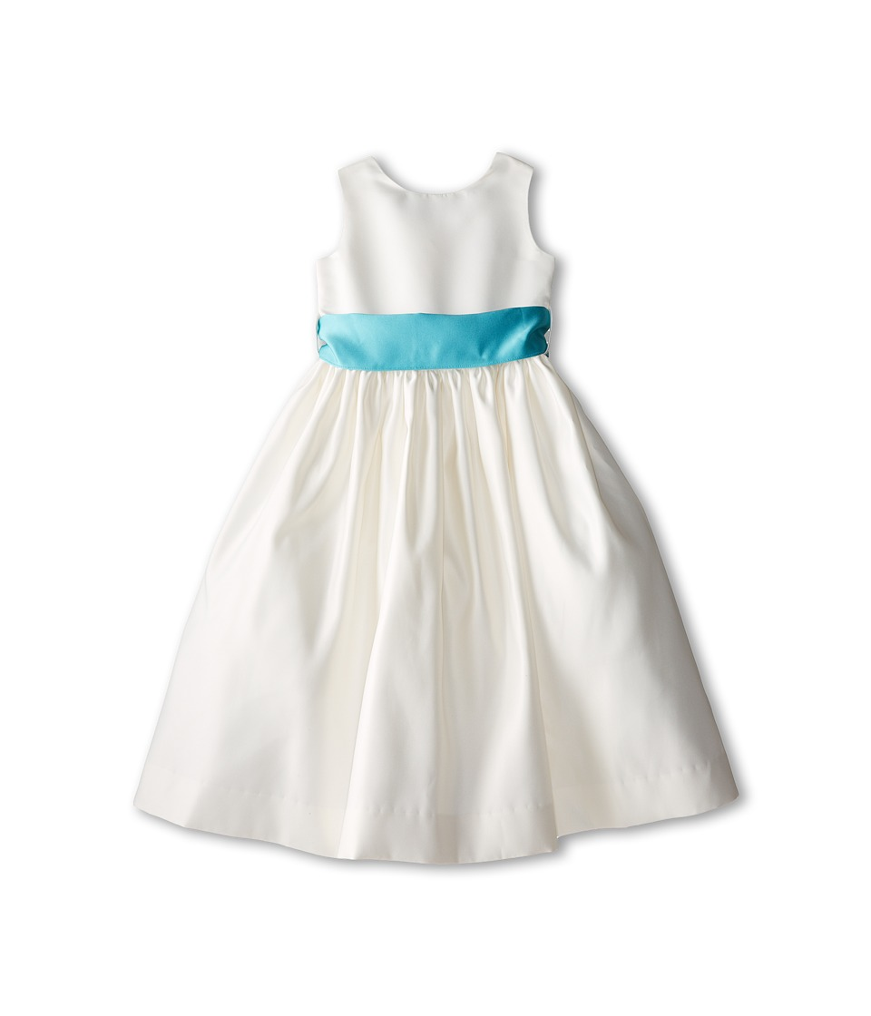 Us Angels - Sleeveless Satin Dress (Little Kids) (Pool Water) Girl