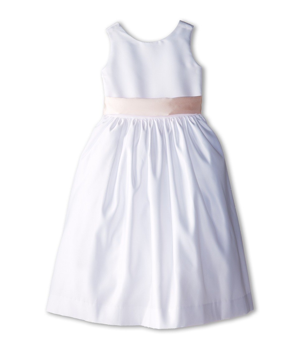 Us Angels - Sleeveless Satin Dress (Big Kids) (Blush Pink) Girl's Dress