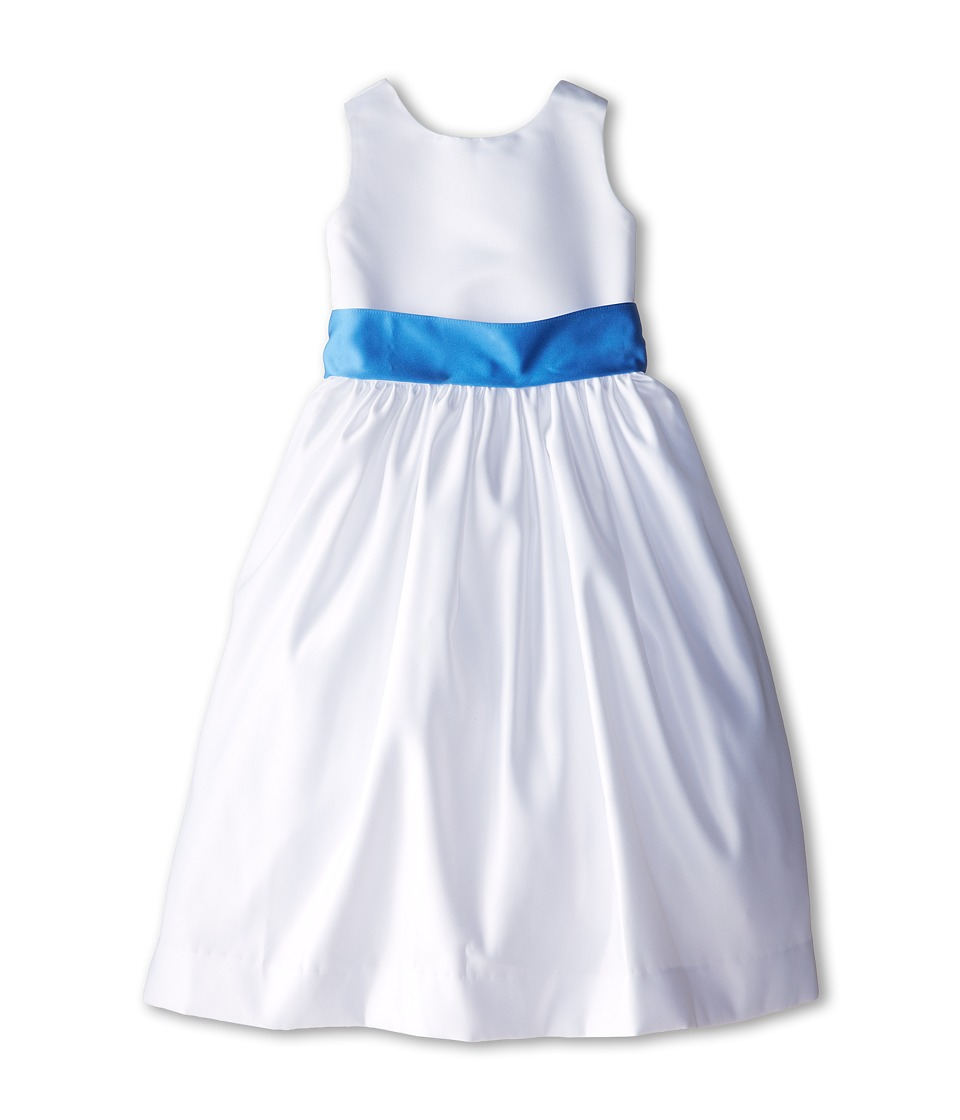 Us Angels - Sleeveless Satin Dress (Big Kids) (Cornflower) Girl's Dress