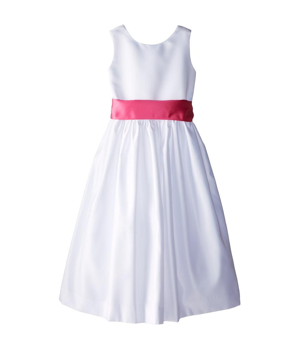 Us Angels - Sleeveless Satin Dress (Big Kids) (Fuchsia) Girl