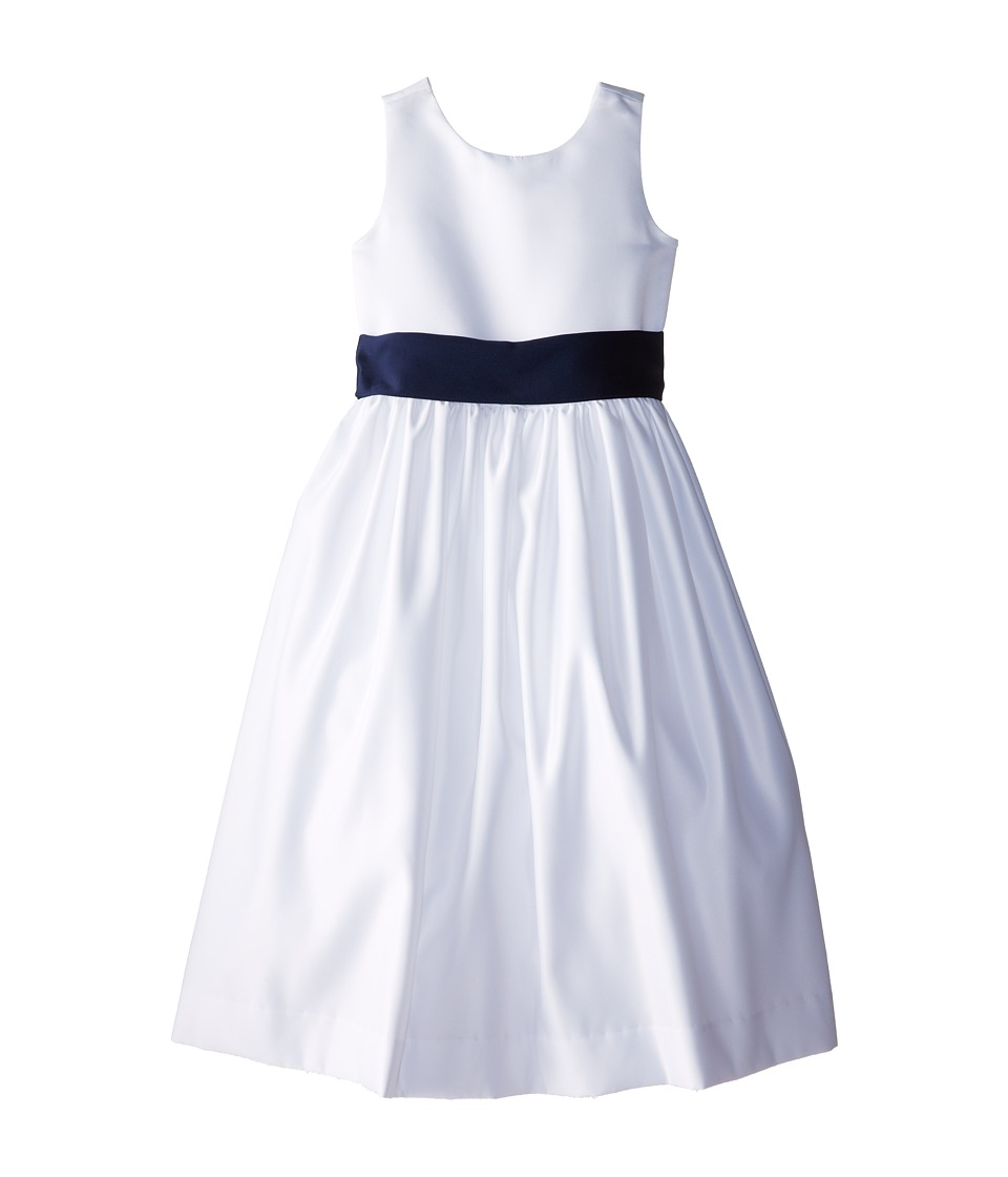 Us Angels - Sleeveless Satin Dress (Big Kids) (Navy) Girl's Dress