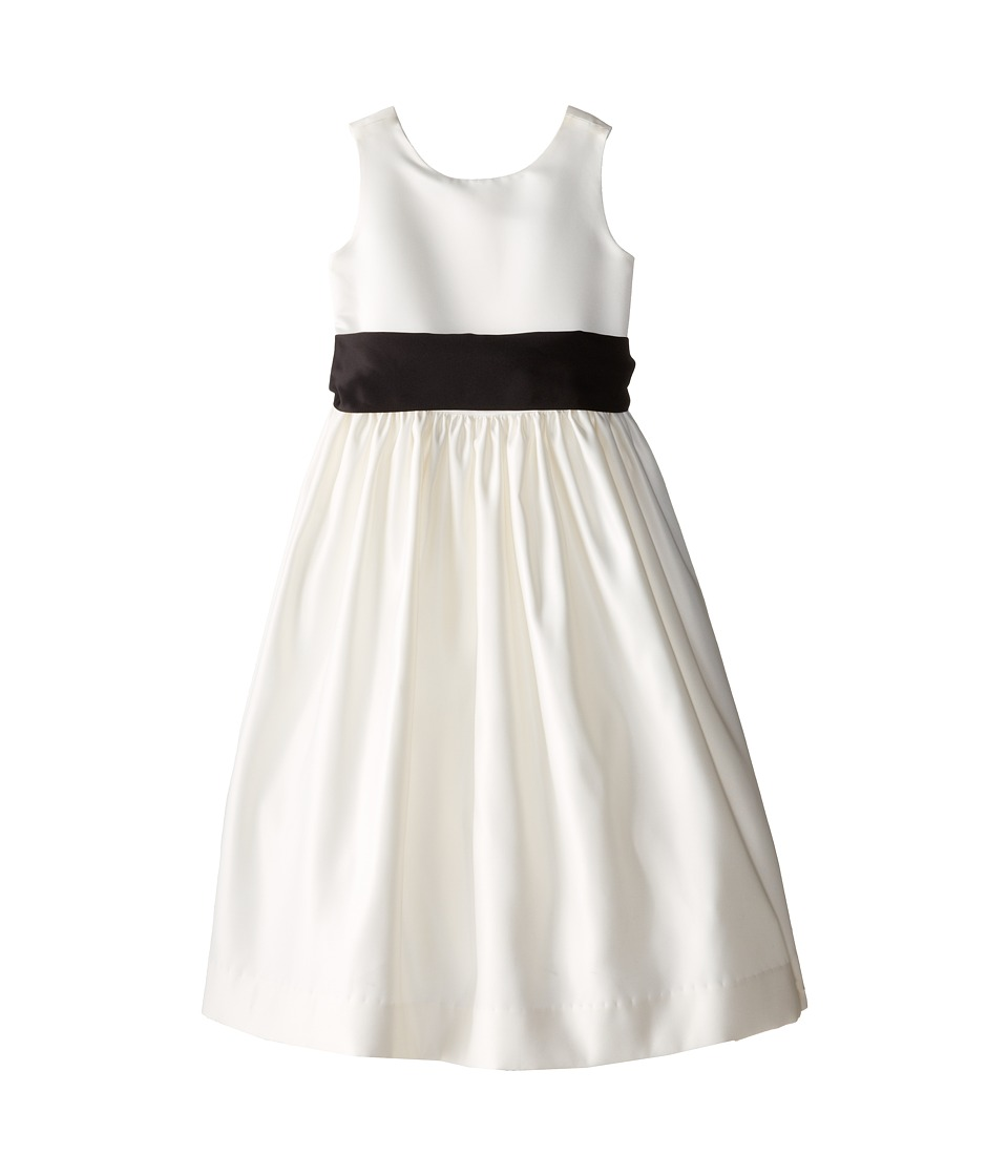 Us Angels - Sleeveless Satin Dress (Big Kids) (Black) Girl's Dress