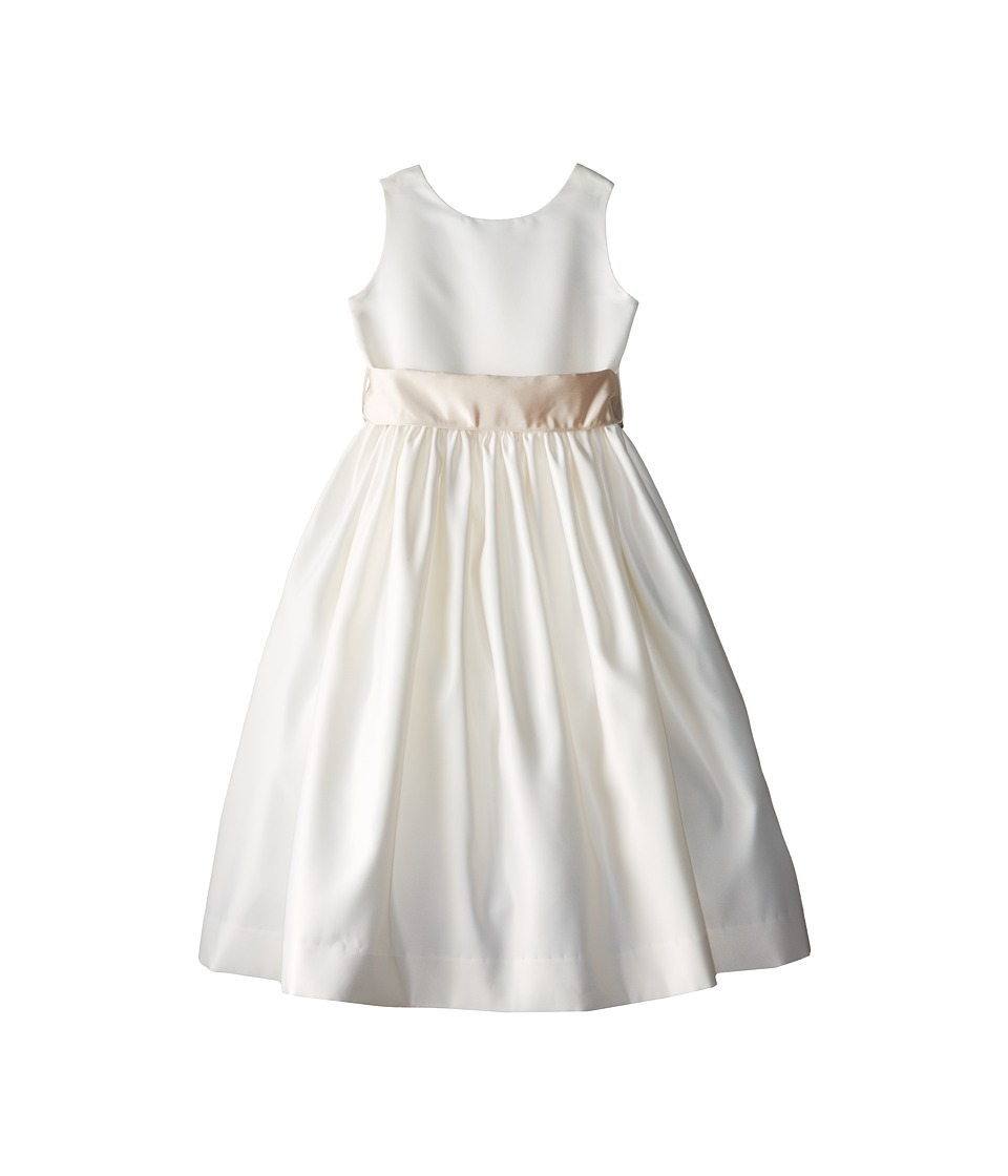 Us Angels - Sleeveless Satin Dress (Big Kids) (Champagne) Girl's Dress