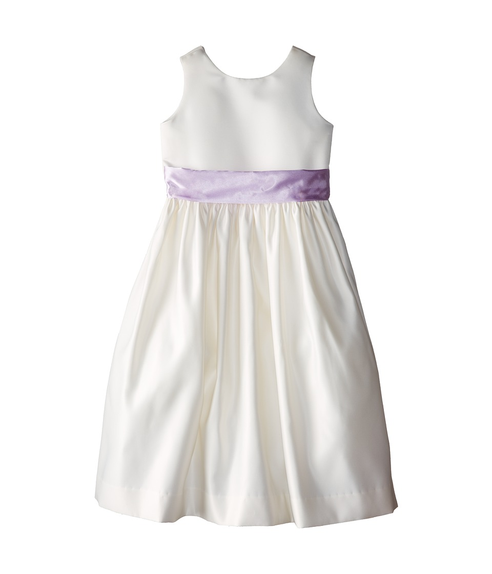 Us Angels - Sleeveless Satin Dress (Big Kids) (Lilac) Girl's Dress