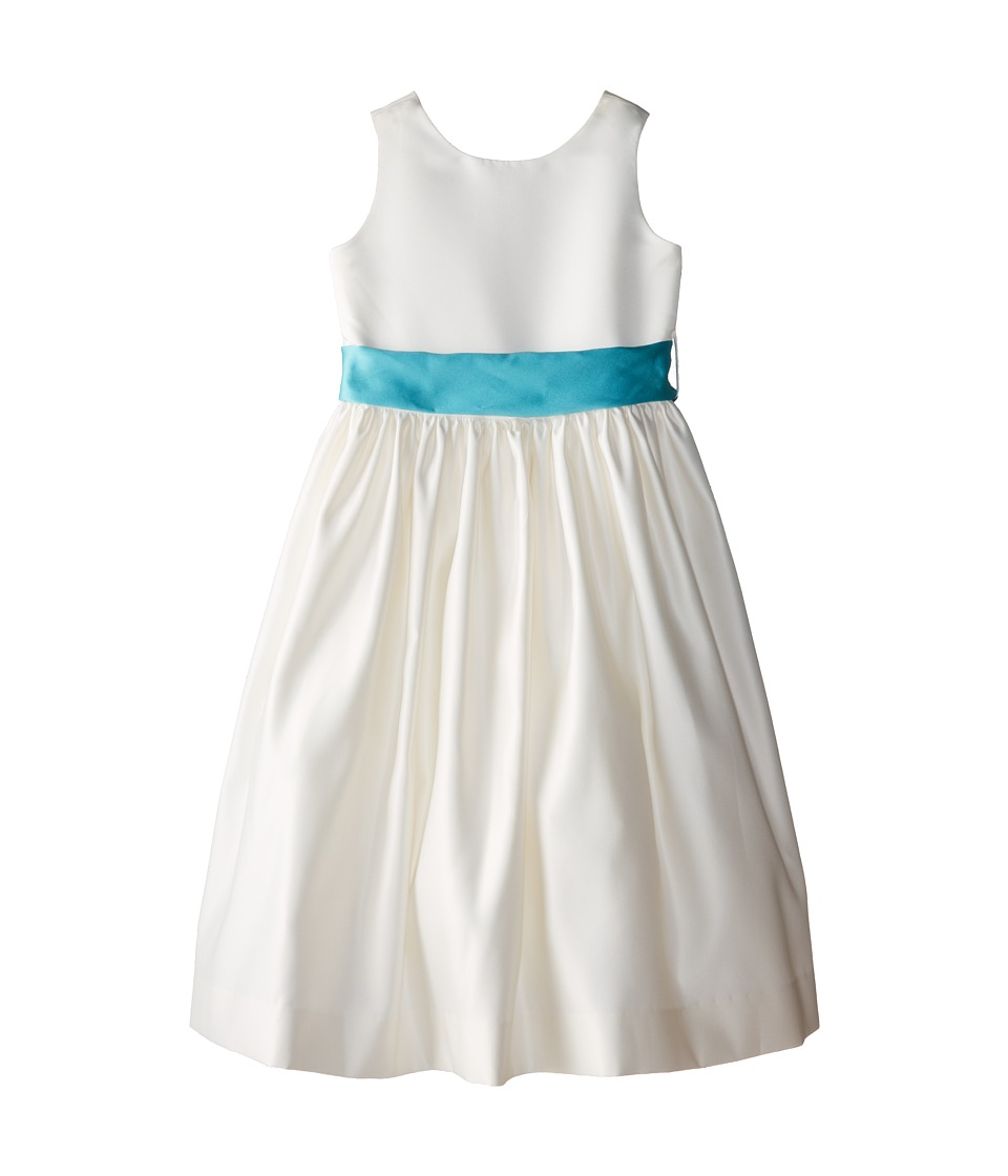 Us Angels - Sleeveless Satin Dress (Big Kids) (Pool Water) Girl's Dress