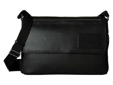 Lacoste - Classic Premium Messenger Bag (Black Deep Forest) Messenger Bags