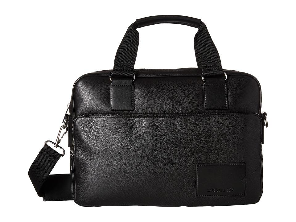 Lacoste - Classic Premium Computer Bag (Black Deep Forest) Computer Bags