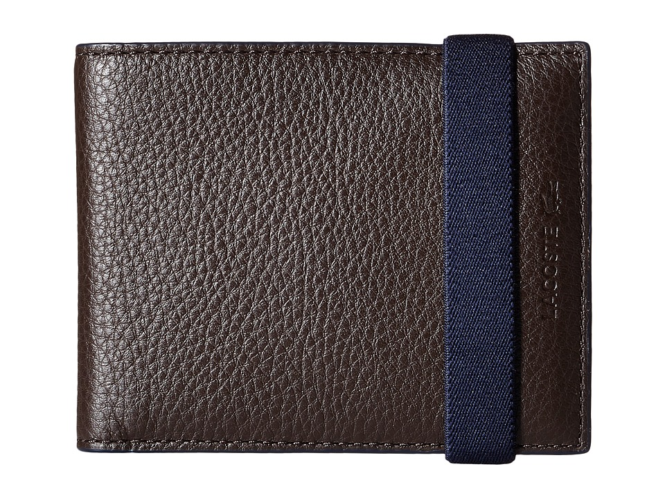 Lacoste - Classic Premium Small Billfold (Chocolate Brown Insignia) Bill-fold Wallet