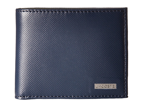 Lacoste - Edward Small Billfold with ID Slot (Dress Blues Olive Night) Bill-fold Wallet