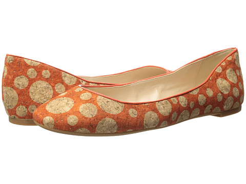 Nine West - Adorabl (Orange/Orange Cork) Women's Slip on Shoes