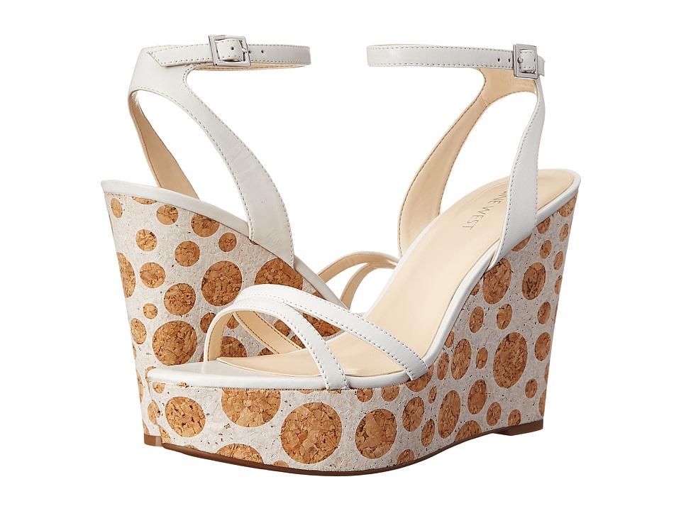 Nine West - Anadulo (White Leather) Women's Wedge Shoes