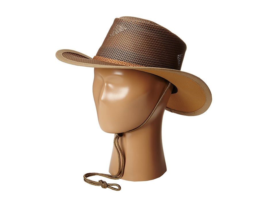 Stetson - Mesh Covered Safari with Chin Cord (Beaver) Safari Hats