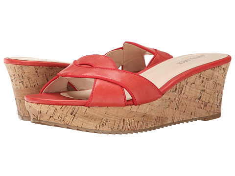 Nine West - Carmeleena (Red/Red Leather) Women's Wedge Shoes