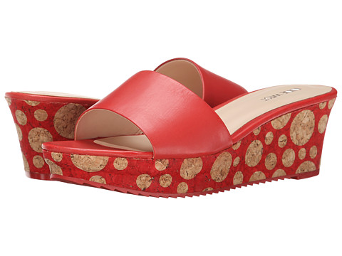Nine West - Confetty (Medium Red Leather) Women's Wedge Shoes