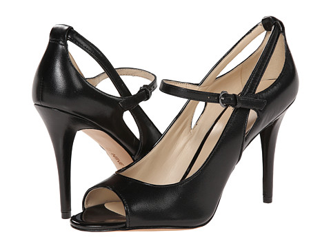 Nine West - Derby (Black/Black Leather) High Heels