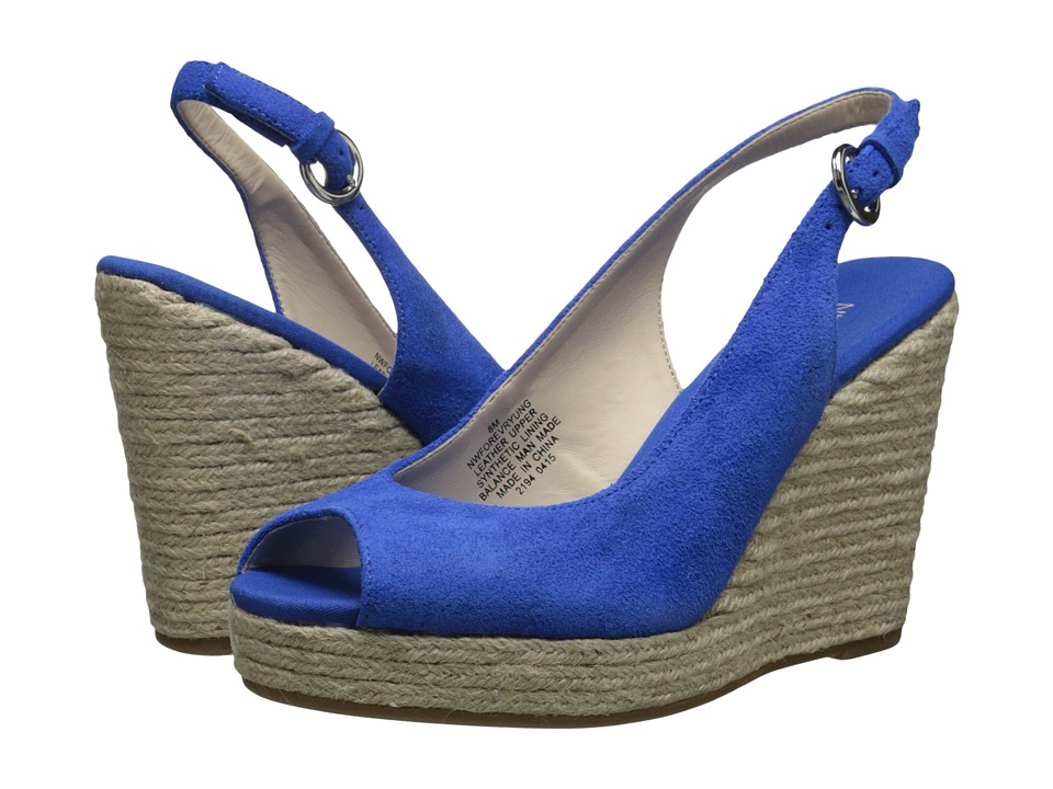 Nine West - Forevryung (Blue Suede) Women's Wedge Shoes