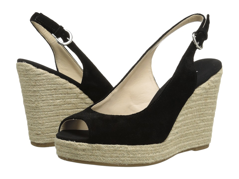 Nine West - Forevryung (Black Suede) Women's Wedge Shoes