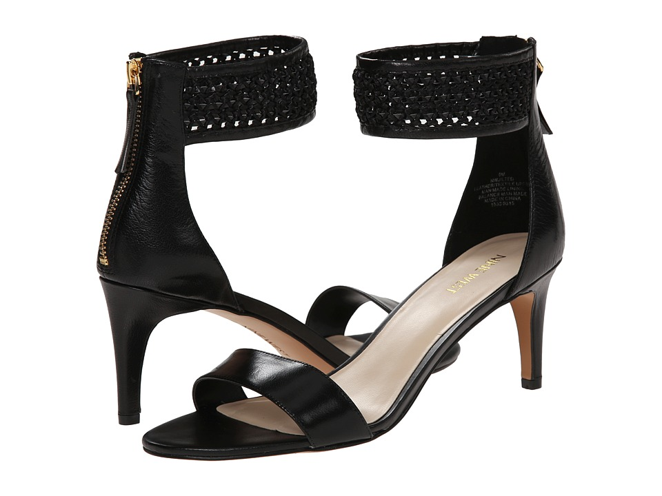 Nine West - Jilted (Black/Black Leather) High Heels