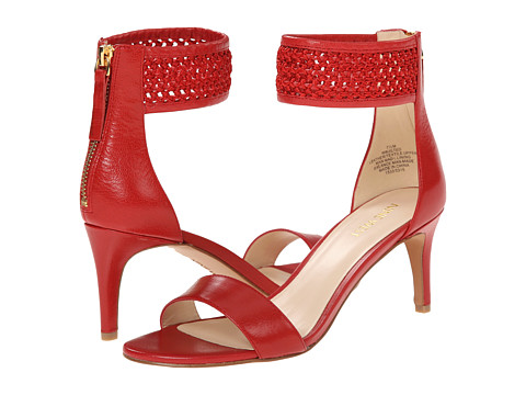 Nine West - Jilted (Red/Red Leather) High Heels
