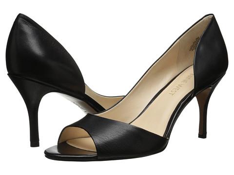 Nine West - Naema (Black Leather) High Heels