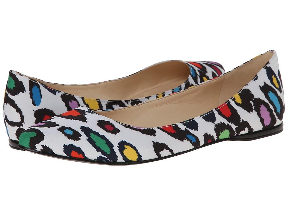 Nine West - SpeakUp (White Multi Fabric) Women's Dress Flat Shoes