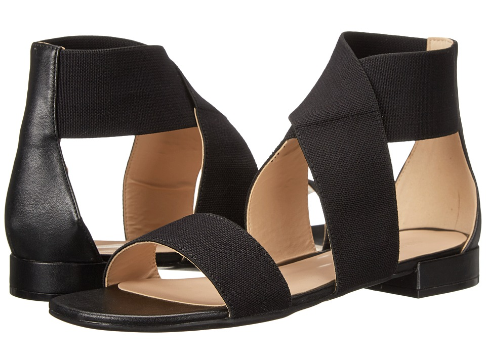Nine West - Whataday (Black/Black Fabric) Women's Sandals