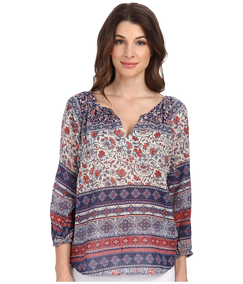 Velvet by Graham & Spencer - Ila 3/4 Peasant Top (Multi) Women