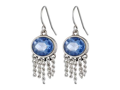 The Sak - Oval Fringe Drop Earrings (Blue) Earring