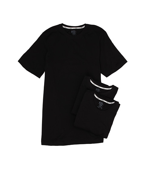 Jockey - Cotton Slim Fit Crew Neck T-Shirt 3-Pack (Black) Men