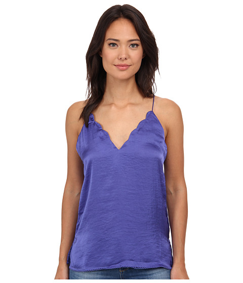 Free People - Sensual Satin Scallop Deep-V Cami (Purple Haze) Women's Sleeveless