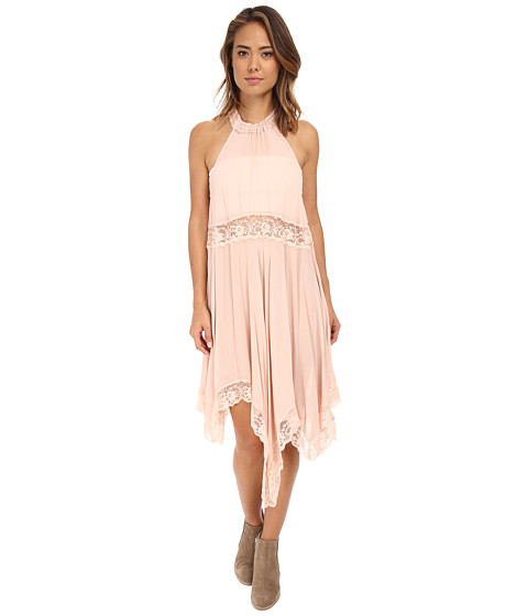 Free People - Go Lightly Gauze Lace Lots of Layers Slip (Ballet) Women's Dress