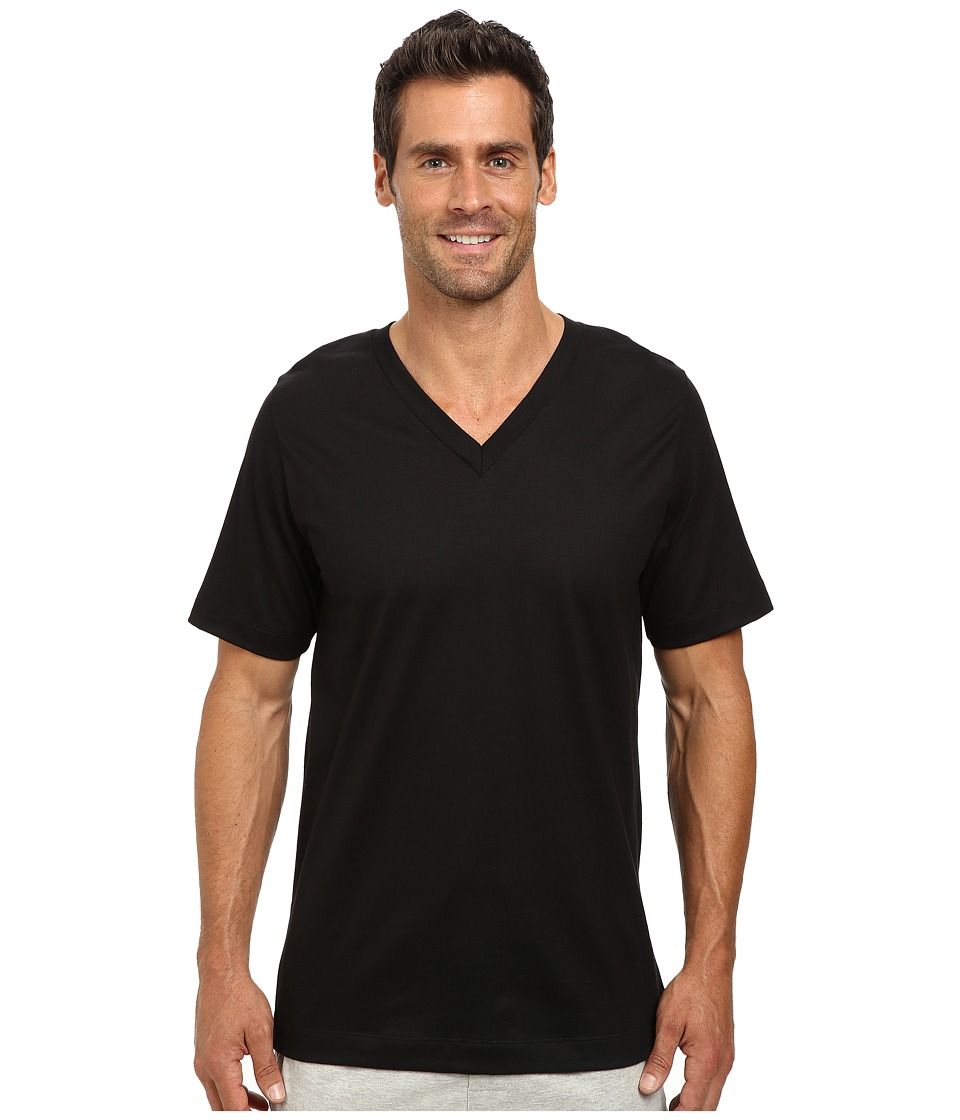 Jockey - Cotton Staycool V-Neck T-Shirt 2-Pack (Black) Men's T Shirt