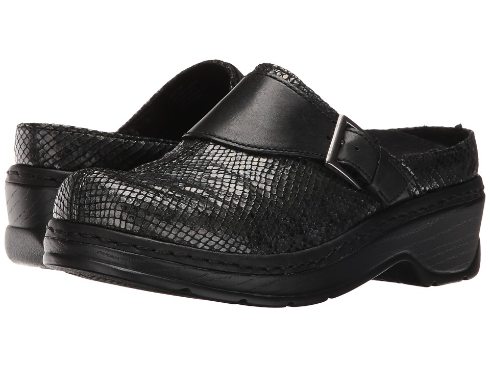 Klogs Footwear - Austin (Black Snake) Women's Clog Shoes