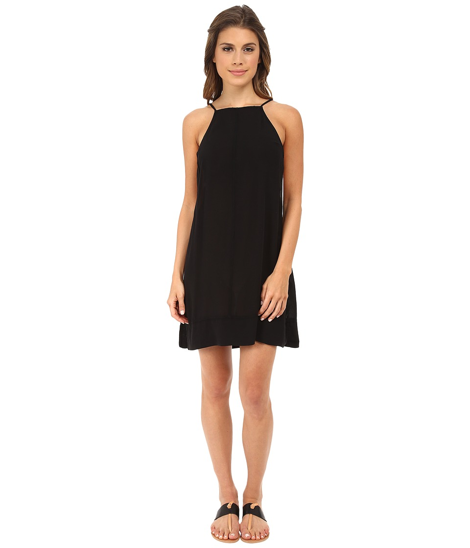 Free People - Sheila's Rayon Side by Side Slip (Black) Women's Sleeveless