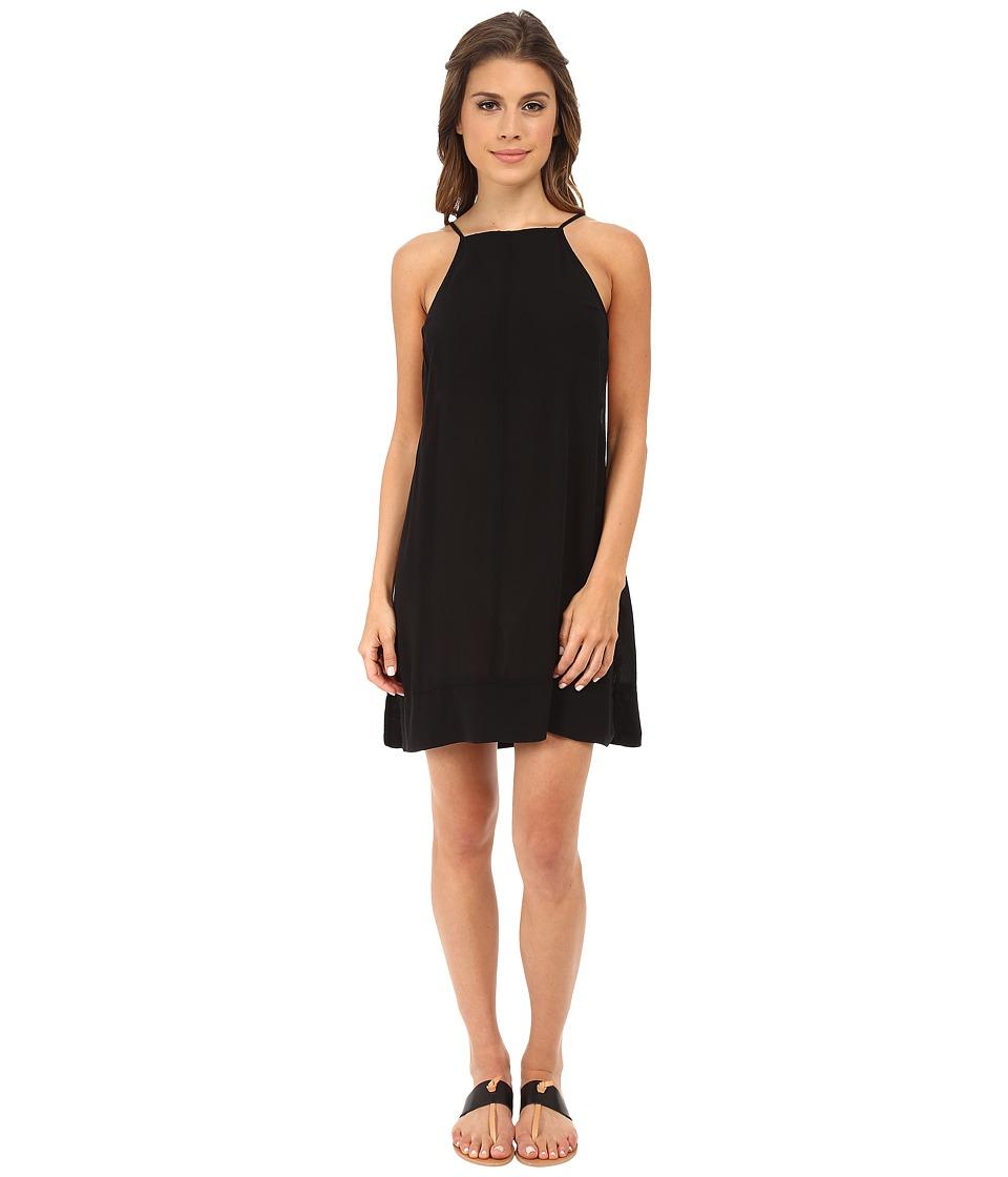 Free People - Sheila's Rayon Side by Side Slip (Black) Women's Sleeveless