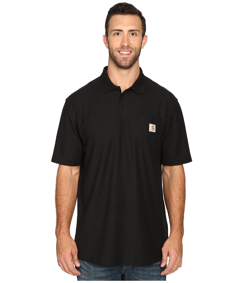 Carhartt - Big Tall Contractors Work Pocket Polo (Black) Men's T Shirt