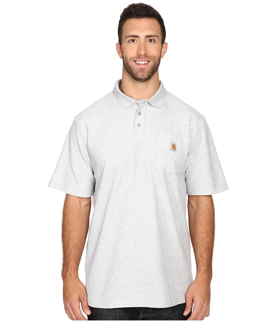 Carhartt - Big Tall Contractors Work Pocket Polo (Heather Gray) Men's T Shirt