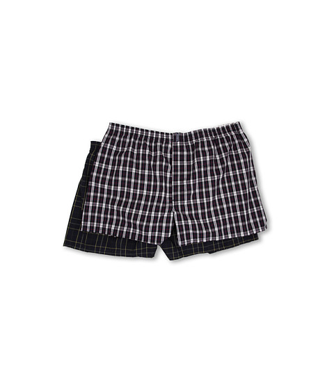 Jockey - Big Man Classic Full Cut Blended Boxer 2-Pack (Navy Kennedy/Navy Tartan) Men