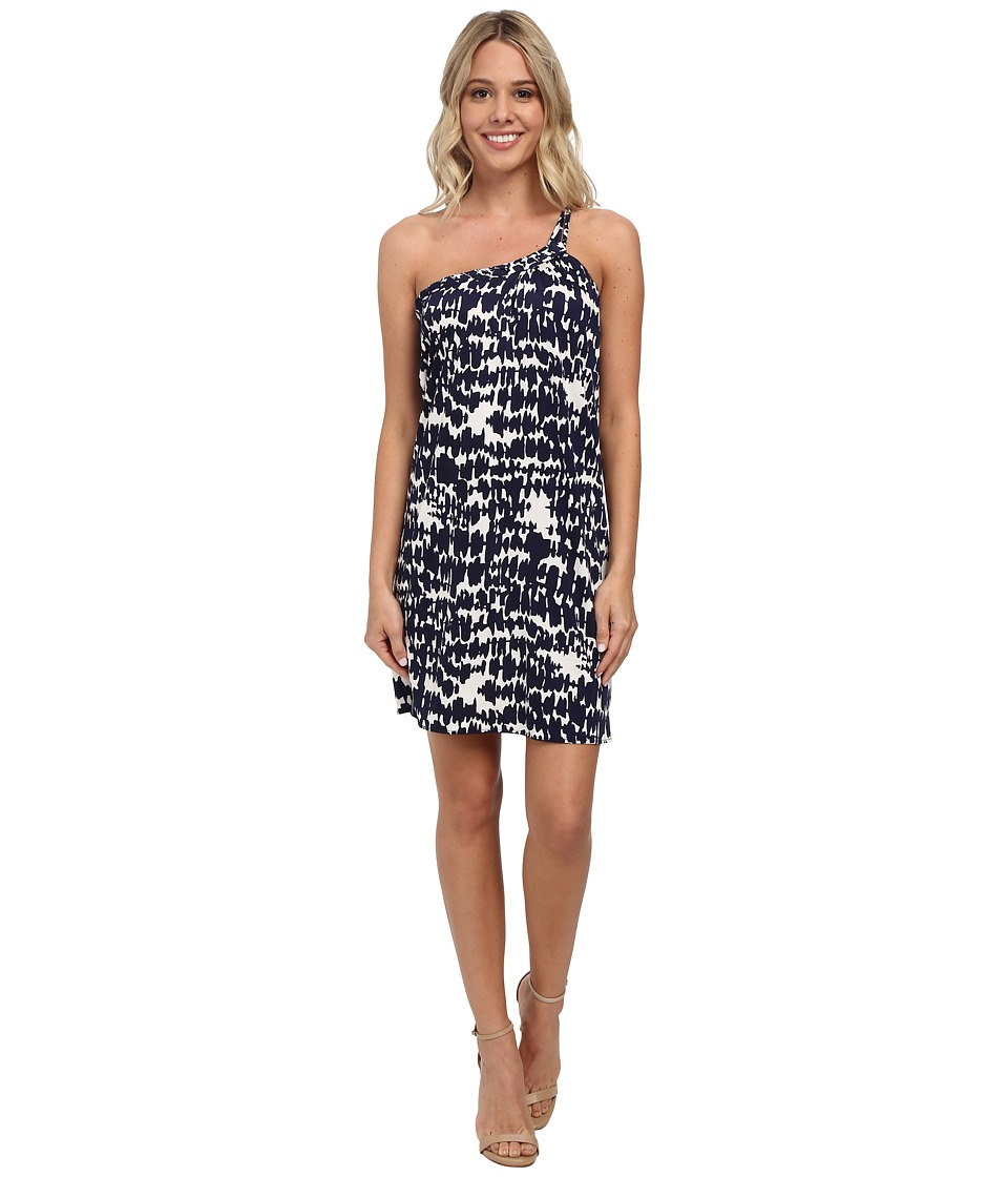 Tbags Los Angeles - One Shoulder Dress w/ Braided Strap (Print) Women's Dress