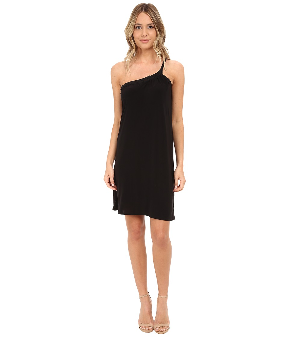 Tbags Los Angeles - One Shoulder Dress w/ Braided Strap (Black) Women's Dress