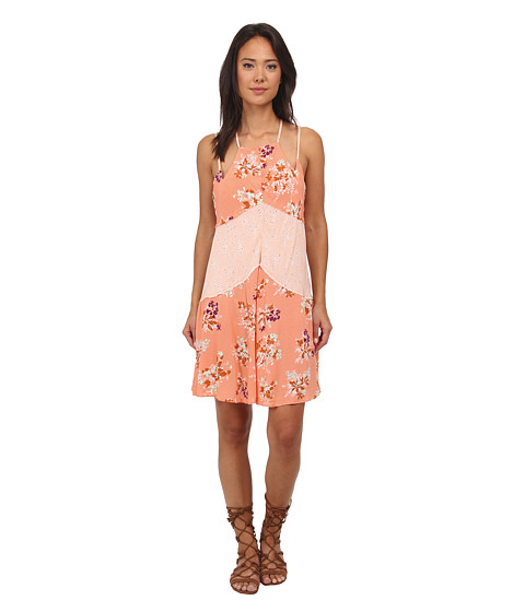 Free People - Printed Rayon Voile Crescent Slip (Sherbet Combo) Women
