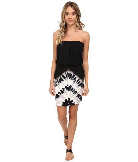 Young Fabulous & Broke - Freya Dress (Black Chevron Stripe) Women's Dress