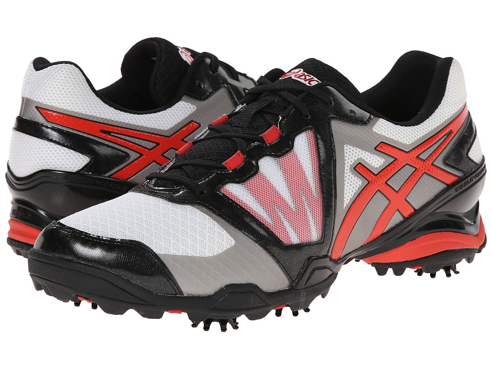 ASICS - GEL-Ace Tour Sunbelt (White/True Red/Grey) Men's Golf Shoes