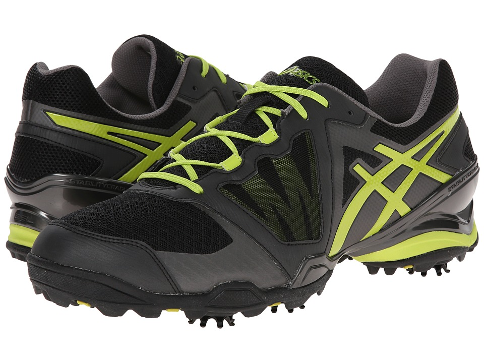 ASICS - GEL-Ace Tour Sunbelt (Black/Lime/Charcoal) Men's Golf Shoes