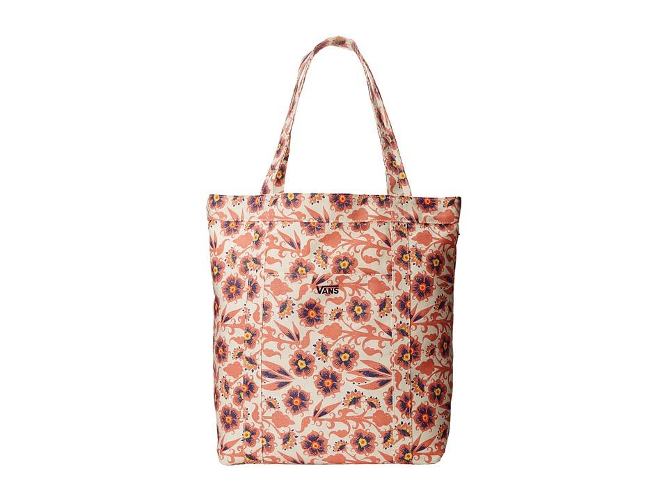 Vans - Wind Chimers Small Tote (Floral Burgundy) Tote Handbags