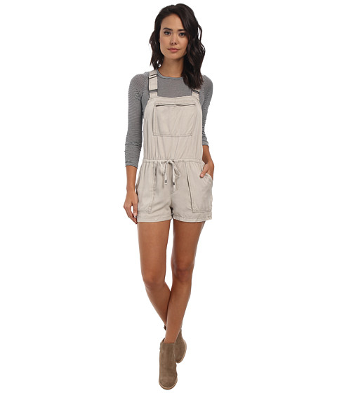 Free People - Basically Backless Shortall Overalls (Stone) Women's Overalls One Piece